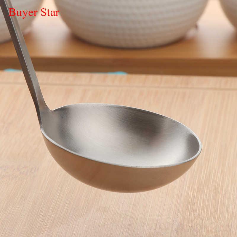 Ferramenta de Cozimento de Aço Inoxidável pçs/set 2 Mate Polonês Punho Longo Concha de Sopa Skimmer Dourado conjunto de Cozinha Acessórios para Panela Quente