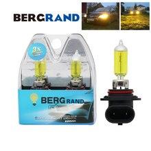 2 PCS HB4 9006 55 W Lampada Alogena Giallo Testa Della Lampada Fendinebbia 2700 K Xenon Gas P22d di Vetro Duro per Una Migliore Visione Lampada Auto