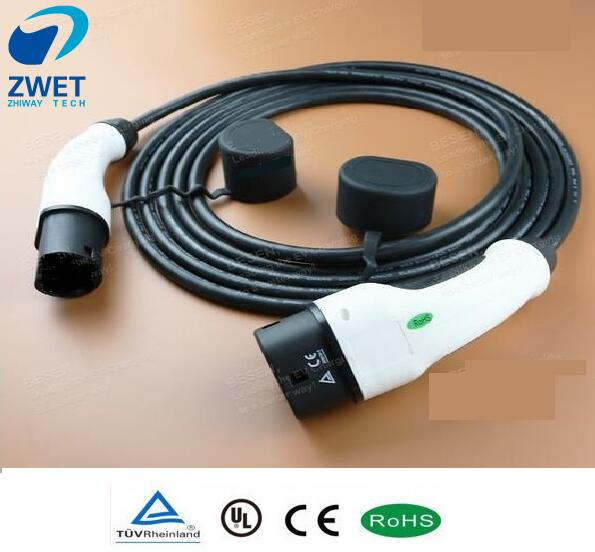 Zwet Iec 62196 Electric Car Charger Cable Type 2 Mennekes 16 Amp 5 Meter Single Phase Ev Charging Station Connector In Converters Inverters