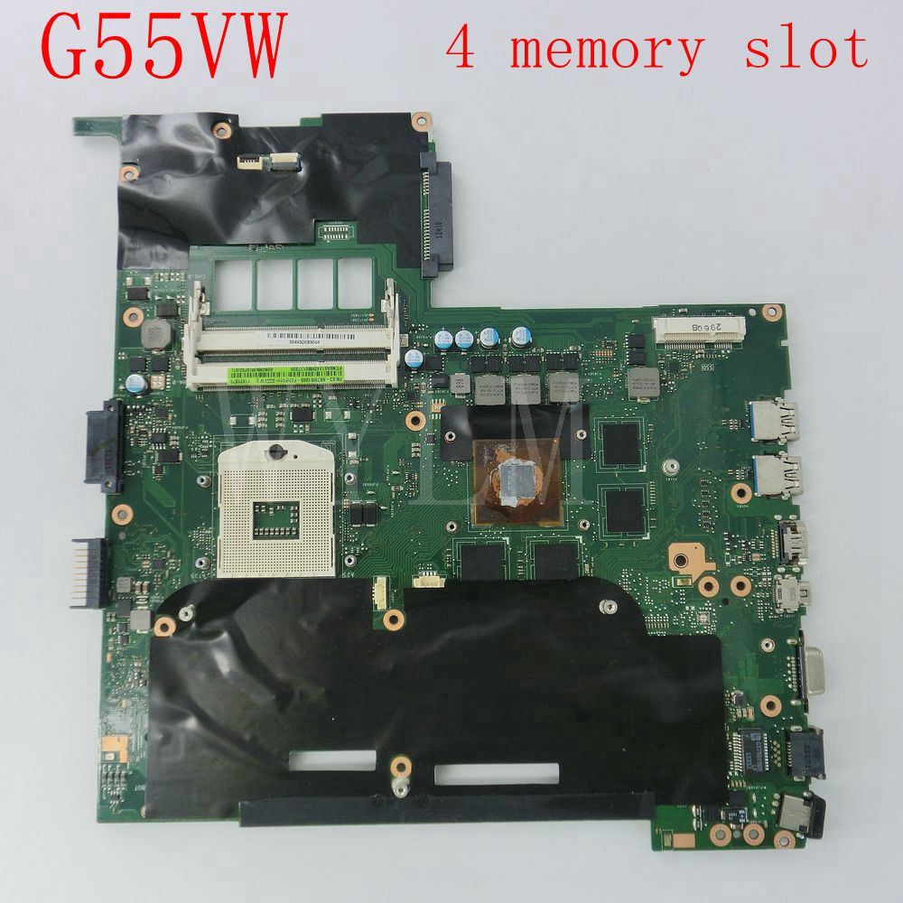 G55VW motherboard for ASUS G55V G55VW laptop mainboard 60-NB7MB1000-F02 4 memory slot Fully tested free shipping 60 pe3vmb3000 a05 for asus et2400igts mainboard et2400igts desktop motherboard memory 2 channel with graphics fully tested
