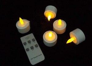 Image 3 - Набор из 12 пультов дистанционного управления, светодиодный, мерцающие, перезаряжаемые, чайные ОГНИ/Свеча электроника, лампа, Рождество, свадьба, бар