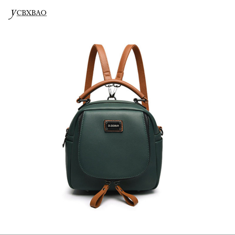 YCBXBAO 2018 Preppy Style Casual Small Bag School Women Fashion PU Leather Backpack Female Black for Teenage Girls Fashion Bag sweet college wind mini school bag high quality pu leather preppy style fashion girl candy color small casual backpack xa384b