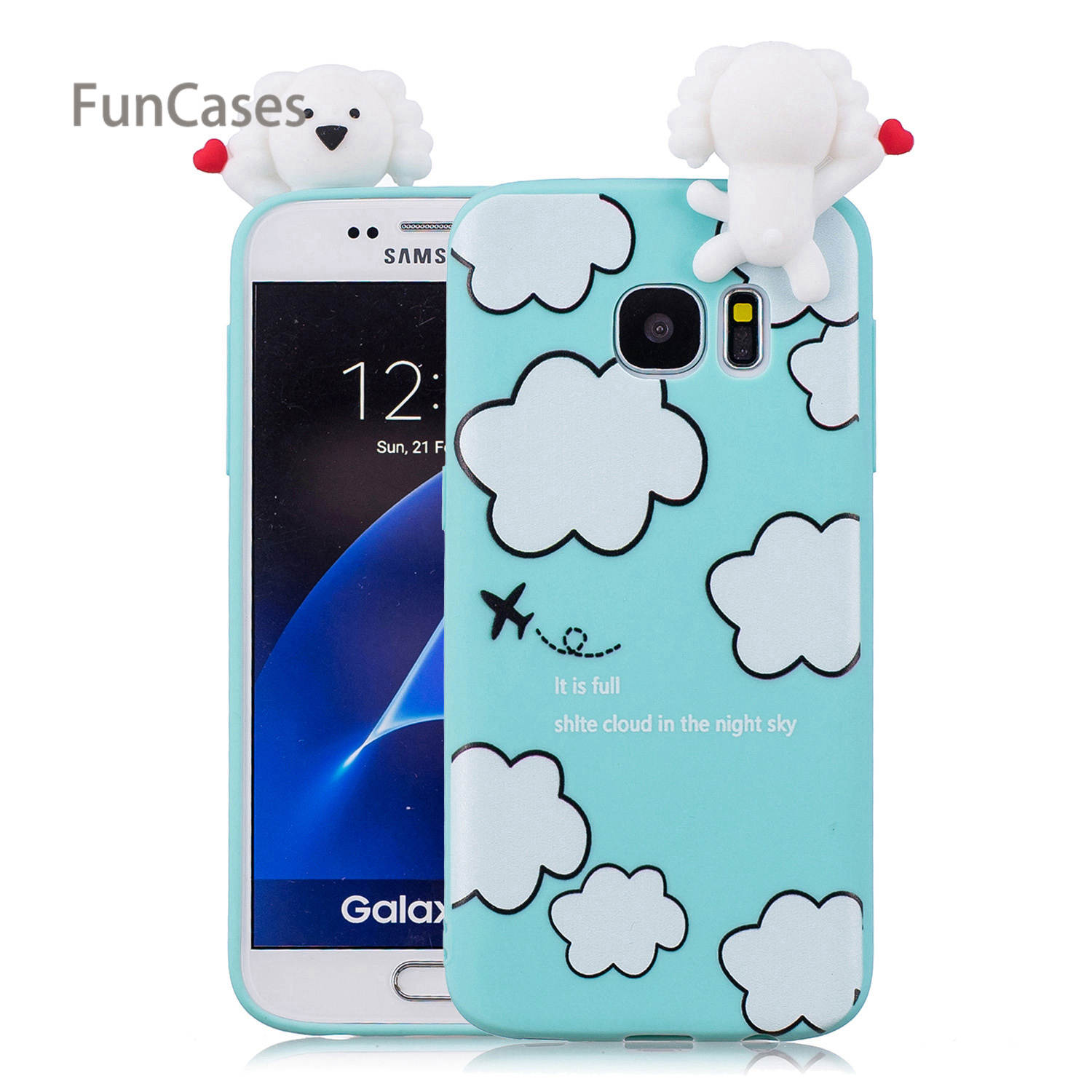 lovely Owl Phone Case sFor Funda Samsung S7 Edge Soft TPU Back Cover Protector Vintage Wallet Case For Samsung Galaxy S7 Edge