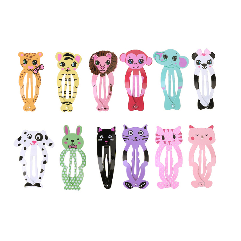6 PCS/Lot Little Girls Cute Cartoon Animal Hairpins Kid Headwear Hair Clip Children Girl Hair Accessories