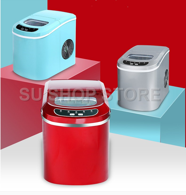 12kgs/24H Portable Automatic Ice Maker, Household Bullet Round Ice Make Machine For Family, Bar,coffee Shop