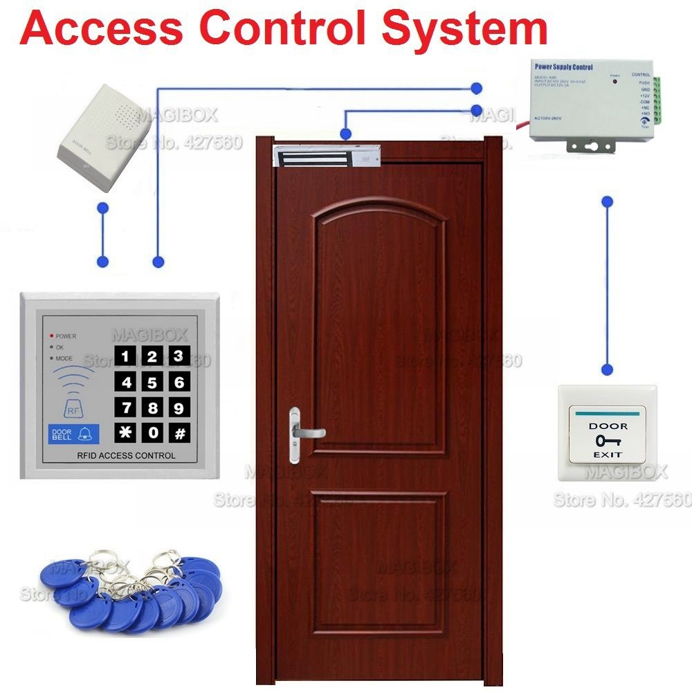 Door Access Control : Khz rfid proximity card door access control system set