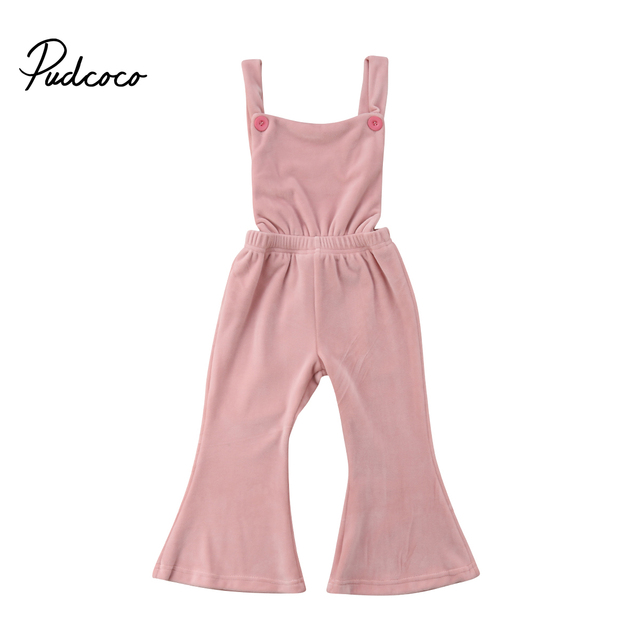 e77f10905157 Pink Newborn Toddler Baby Girl Sleeveless Backless Velvet Romper ...