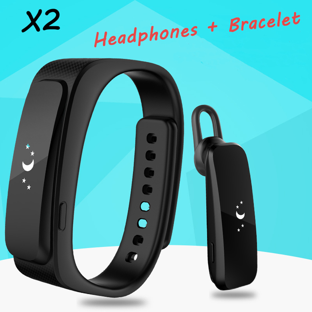 "X2 Inteligente Hablar Banda de Pulsera Bluetooth 4.0 Diario Impermeable 0.91 ""Pantalla OLED Táctil Auricular Smartband para IOS Android Smartphone"