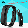 "X2 Smart Talk Band Bracelet Bluetooth 4.0 Daily Waterproof 0.91"" OLED Touch Screen Earphone Smartband for IOS Android Smartphone"