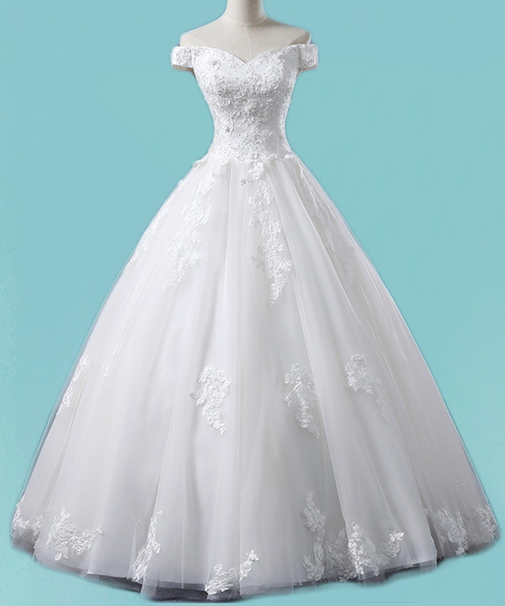 2017 Vintage Ball Gown Wedding Dress Off Shoulder Princess Bridal ...