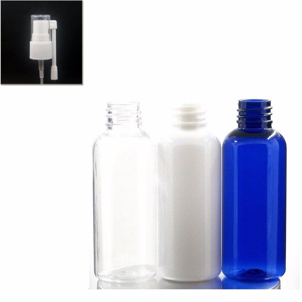 50ml Empty Blue/white/clear Plastic Pet Bottle With White Rotation Nasal Sprayer Nasal Bottle