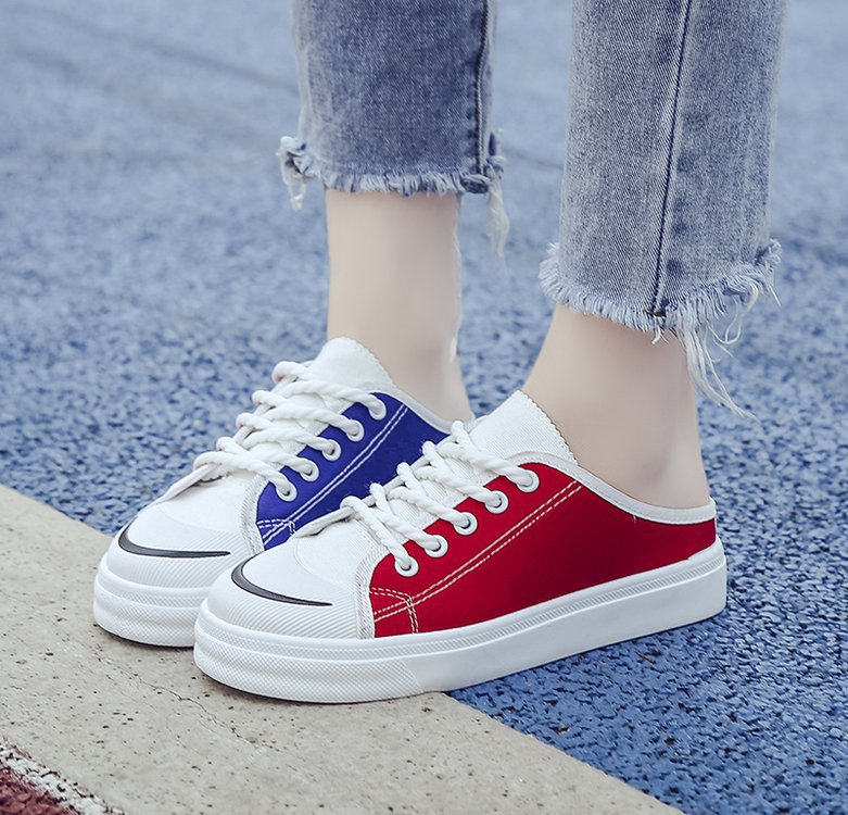 Classic Canvas New Arrival Women Fashion Jogging Shoes Breathable Causal Sneakers 35-39