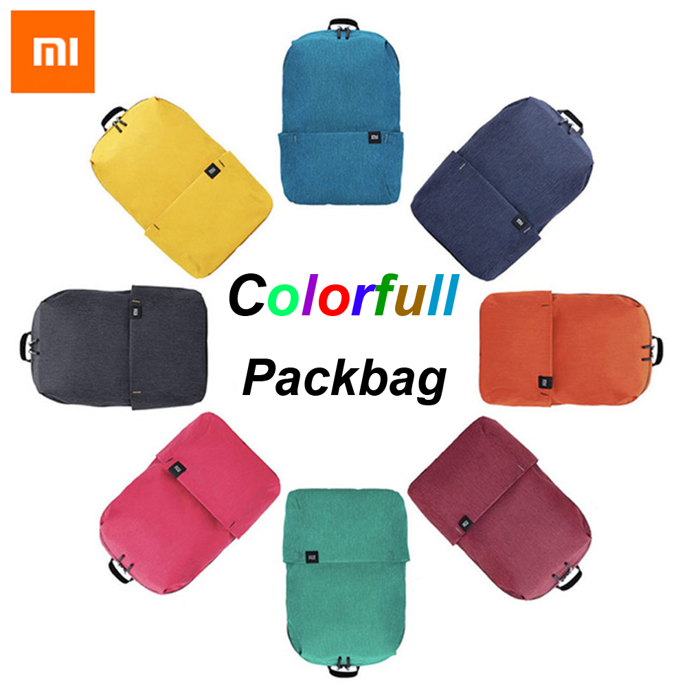 Original Xiao mi mi mochila saco 10L 8 CORES 165G lazer urbano Esportes Pacote Peito Sacos Das Mulheres Dos Homens Pequeno tamanho Ombro Unise