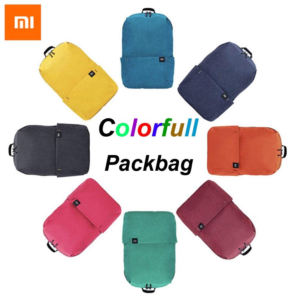 Original Xiaomi Mi mochila 10L bolsa 8 colores 165g urbano ocio deportes pecho Paquete de bolsas de las mujeres de los hombres tamaño pequeño hombro fabricantes.