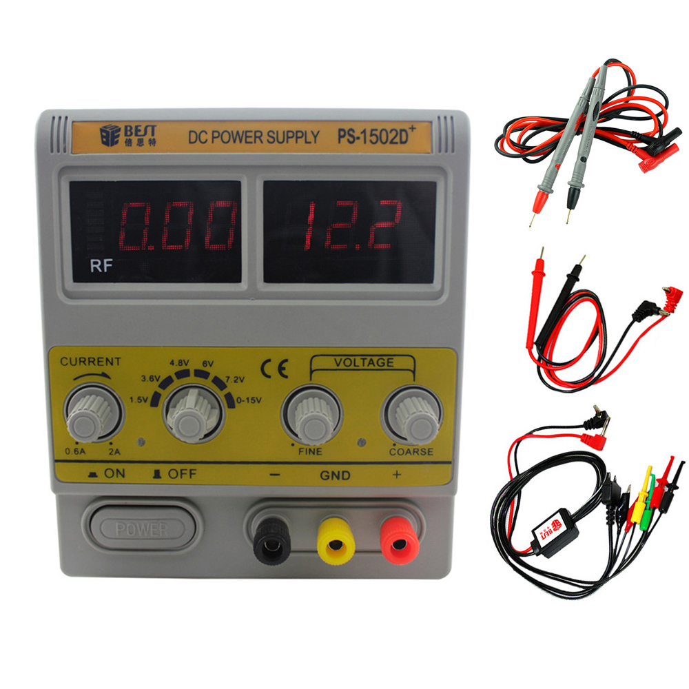 BEST <font><b>1502D</b></font>+ High Quality DC Regulated Maintenance Power Supply 0-15V2A Digital Controlled Power Supply LED Digital Display image