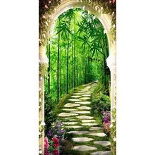 Bamboo Forest Flower DIY 5D Full Drill Diamond Painting Embroidery Cross Stitch Kit Rhinestone Mosaic Home Decor Craft