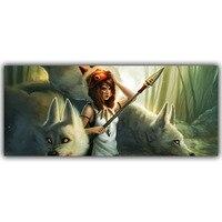 Princess Mononoke Fantasy Art Anime Forest Home Decoration Silk Canvas Fabric Poster Boys And Girls Bedroom