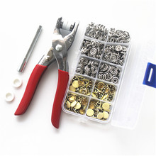 pliers tools for 10mm solidmetal prong snap Buttons 100 sets Clamps Press rivets Poppers children's sliders buckle+1 boxex