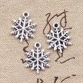 8 шт. талисманы снежинка снег 19 * мм 15 мм под старину заготовка для Подвески fit, Винтаж тибетское серебро, DIY браслет цепочки и ожерелья - фото