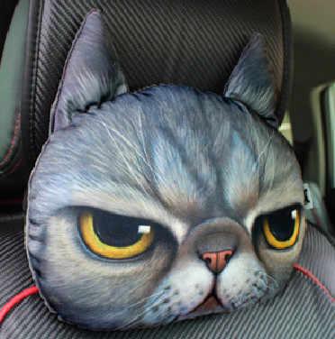 30*30 سنتيمتر مسند الرأس القط الكلب شكل وسادة أريكة دمية على شكل عروسة سيارة السفر مسند الرأس هدية عيد ميلاد الزفاف كرسي منزلي وسادة رئيس الراحة
