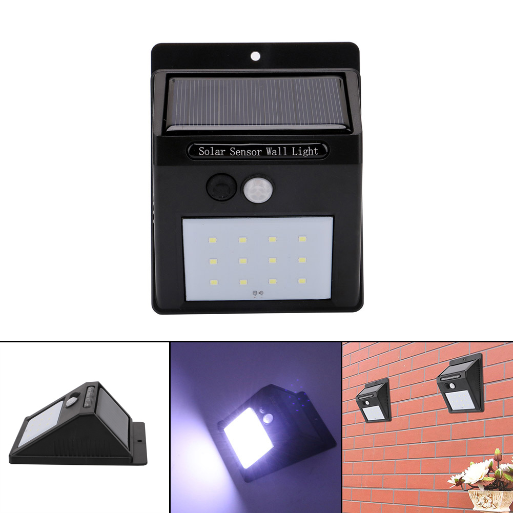 12 Leds Solar Sensor Light Waterproof Security Lights Energy Saving Wall Lamp For Outdoor Courtyard Corridor Driveway CL ...