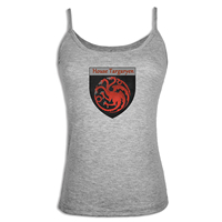 Game Of Thrones House Targaryen Fire And Blood Camisole Tank Top Women Girl Lady Fitness Singlet