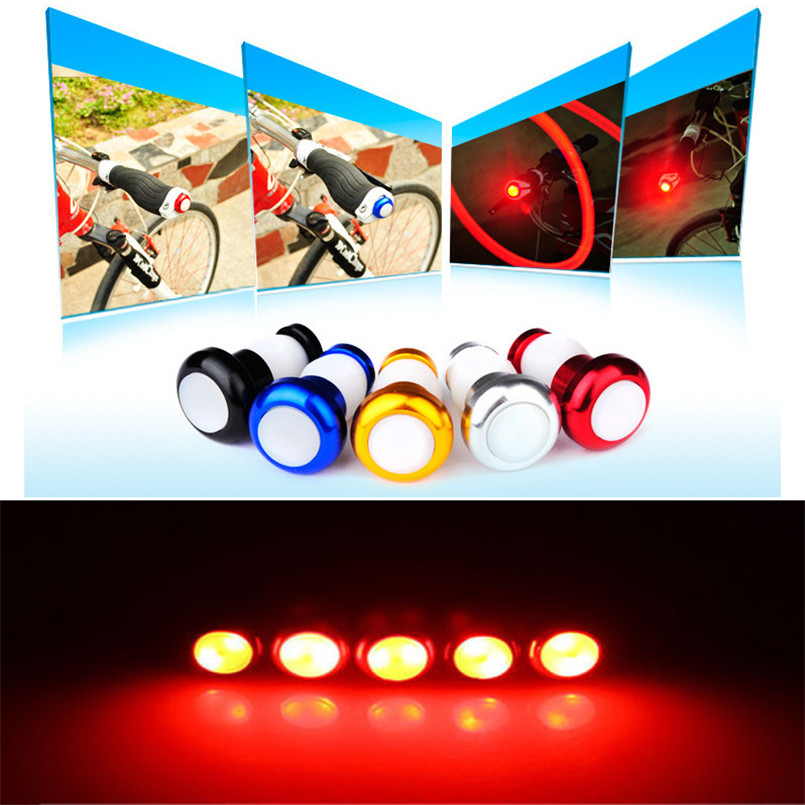 2pcs Bike Bicycle Handlebar Bar LED End Plug Light Turn Signal Warning Indicator lights Bicycle accessories outdoor 2017