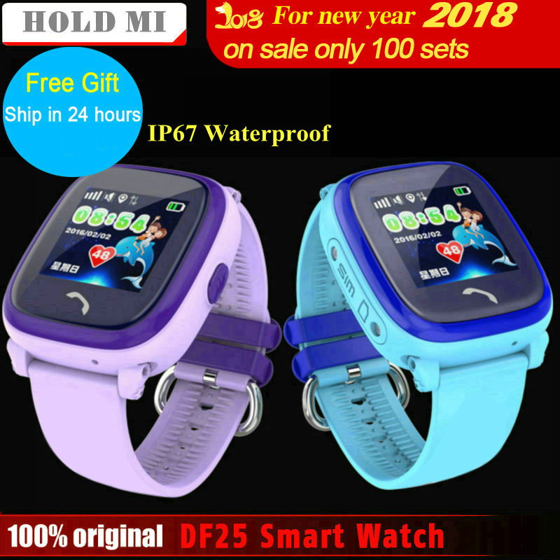 Hold Mi IP67 Waterproof Smart Watch DF25 Child GPS Smart Baby Watch SOS Call Location Device Tracker Anti-Lost Monitor