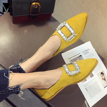 custom made celebrity crystal flats women buckle mules brief fashion  wedding shoes woman driving shoes autumn 63bb51a0e52e