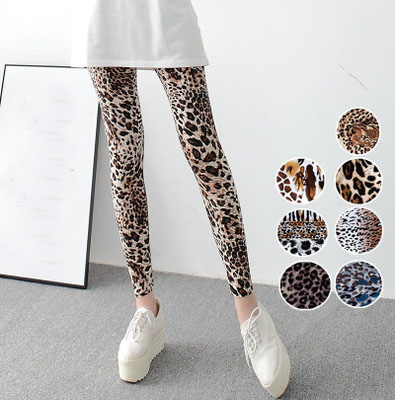 New Leopard Printed   Leggings   Fashion Casual Elasticity Pants Sexy Women Slim Leggins
