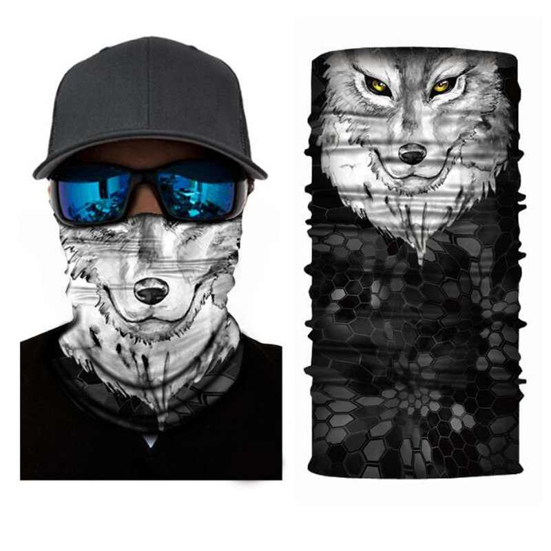 Outdoor Headscarf Mask 3D Animal Series anti-Wind Sand Breathable Cycling Bike Riding Face Mask Headwear Mask Scarf