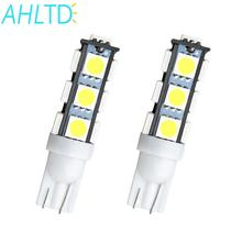 High Quality 2X White T10 13 SMD 5050 13LED 13Smd 194 168 192 Auto Car Side Light Bulb 194 168 W5W LED Wedge Lamp 12V wholesale 1pcs white t10 5050 smd 13led auto car side light 501 w5w t10 168 194 bulbs led wedge lamp reading light accessories dc 12v