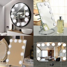 10pcs LED Bulbs Makeup Cosmetic Mirror Light Kit with Touch Dimmable Lighted Bulb LED Bulbs Sets Adjustable Brightness dimmable hollywood makeup vanity mirror with light large lighted tabletop cosmetic mirror with 9pcs touch control led bulbs