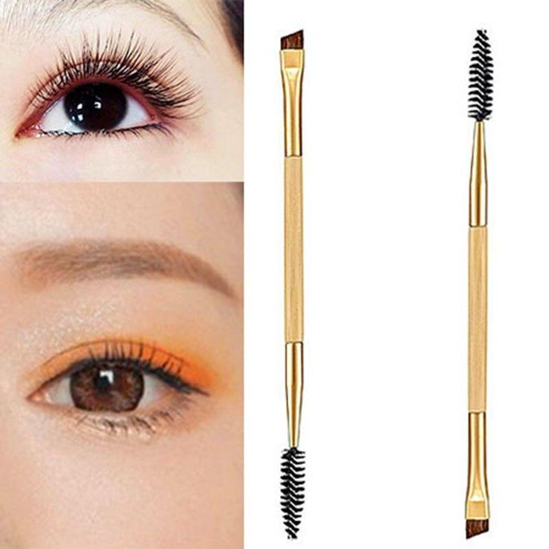 1PC New Duplo End Sobrancelha Pestana Mascara Varinhas Brushes Eyeliner Eye Liner Maquiagem Ferramentas de Cosméticos Hot