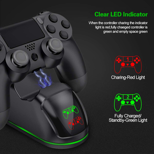 Image 3 - Wireless Charger สำหรับ PS4/PS4 Slim/PS4 Pro LED แท่นชาร์จแบบ Dual สำหรับ PS4 Controller Charge สำหรับ sony PlayStation 4 Pro P4