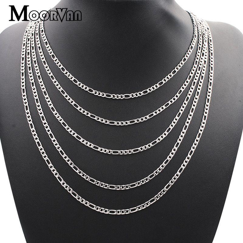 Moorvan Figaro Chain Necklace Men Jewelr