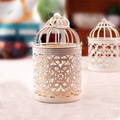 Hollow Iron Candlestick European Creative Home Bird Cage of Metal Decoration