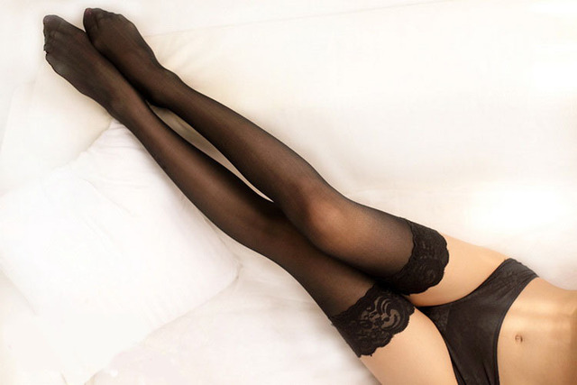 Safe answer beautiful long legs lingerie stockings