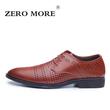 ZERO MORE New Fashion Size 38 44 Men Shoes Cool Summer PU Leather Mans Footwear Breathable