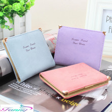 2017 Fashion Sweet Small Wallets Mini Clutch For Female PU Leather Short Cute  Women Wallets Coin Case portefeuille femme A032