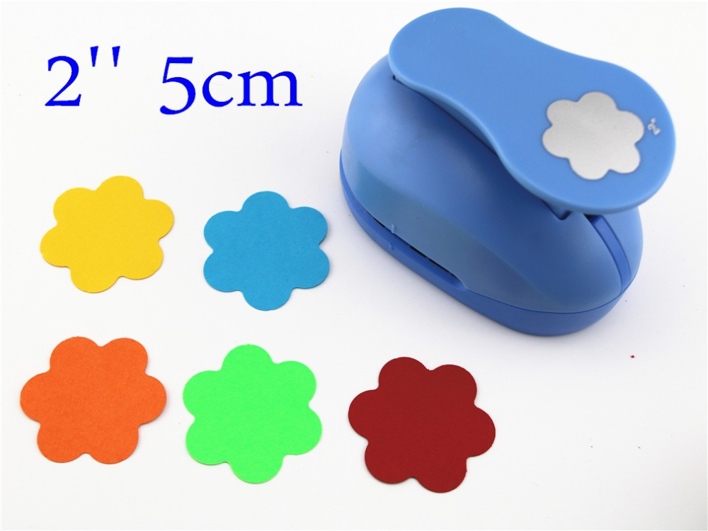 Free Shipping Flower Punches 2'' Craft Punch Paper Cutter Scrapbook Child Craft Tool Hole Punches Embossing Device Kid  S8565