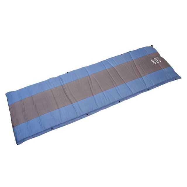 Aotu Self Inflating Sponge Sleeping Mat Camping Mattress Air Bed Single Roll Up Blue