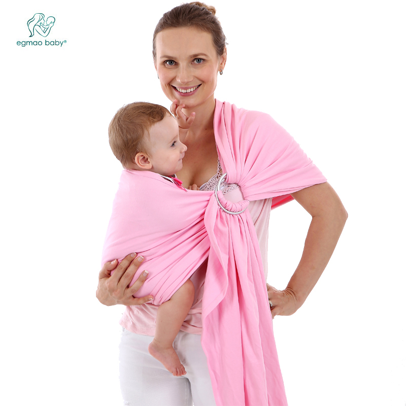 EGMAOBABY 2018 hot selling Baby Sling, high quality comfortable Ring Baby Carrier Wrap for newborn