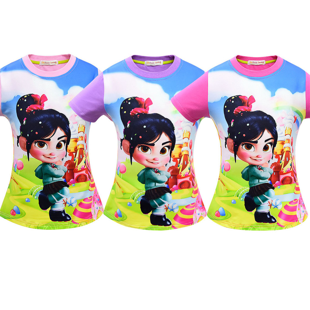 The New Ralph Breaks the Internet: Wreck-It Ralph 2 boys T-shirt in short sleeves for children Carnival cosplay costume