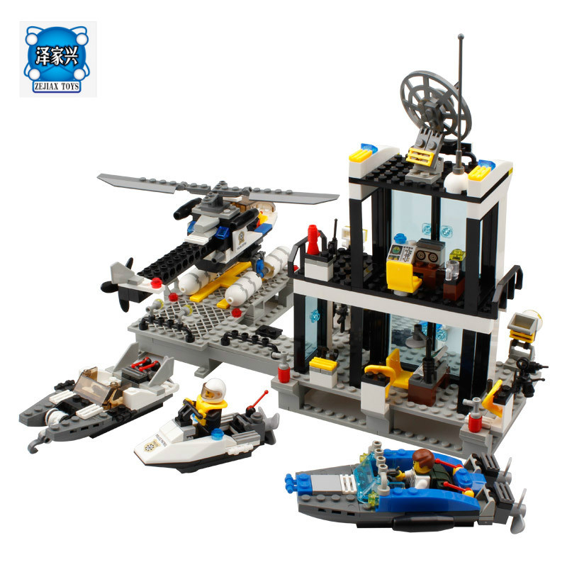 6726 Building Blocks Police Station Truck City Plane Ship Kids Children Toys Christmas Gifts for Kids bohs building blocks city police station coastal guard swat truck motorcycle learning