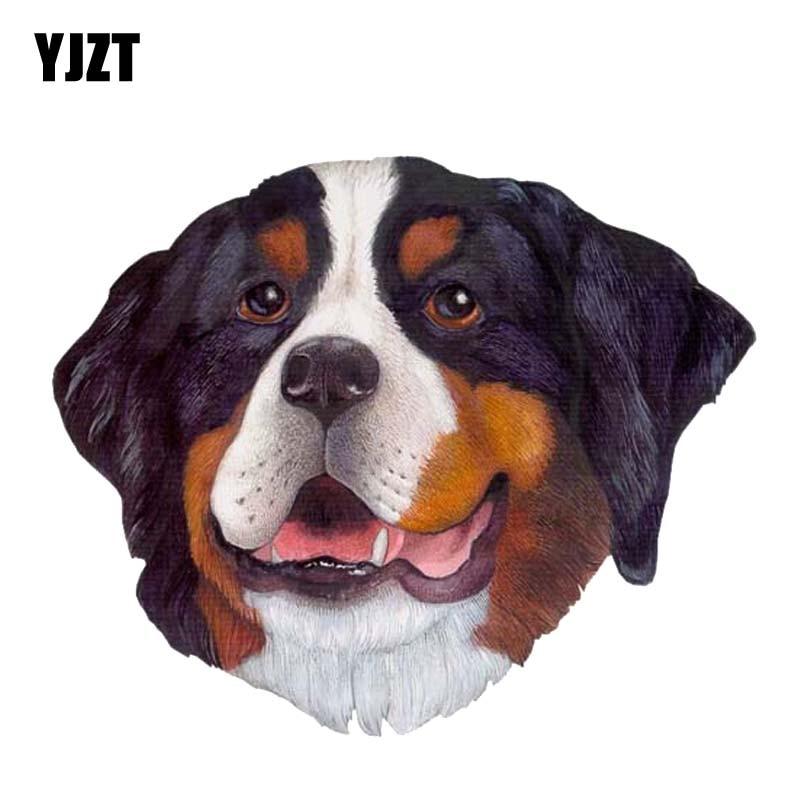 YJZT 14 см * 11,7 см персональная 3D голова собаки интересный ПВХ стикер автомобиля наклейка 12-300156