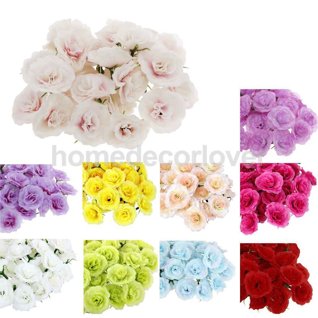 100pcs Artificial Silk Rose Peony Flower Heads Bulk Craft Home