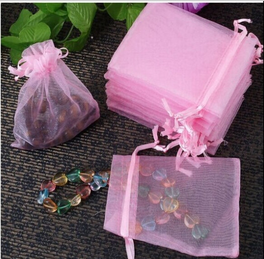 100 Pcs Organza Wedding Favour Bags Jewellery Pouches Birthday Candy Gifts For Party