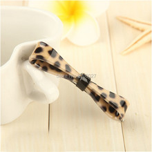 Fashion Cool Leopard Clip Hairpin Bow Fabric Temperament Hair Clips For Women & Girls Hair Accessories