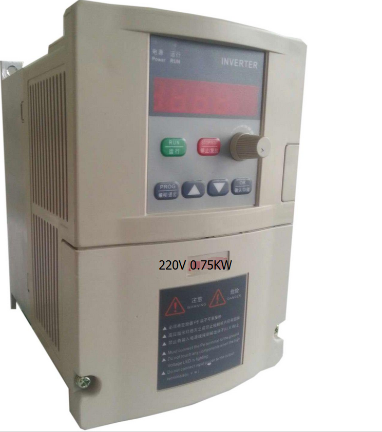 General VFD 0.75KW 220V Single-phase 220V input Three-phase 220V output motor speed controller Inverter frequency converter vector control frequency converter 220v single phase to 220v three phase 220v 0 75kw